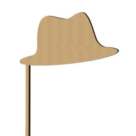 Sujet en bois médium - Photobooth Chapeau feutre - 32 x 20,8 cm