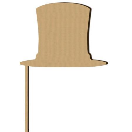 Sujet en bois médium - Photobooth Chapeau haut-de-forme GM - 32 x 17 cm