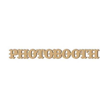 Mot en bois médium - Le mot photobooth - 5,9 x 57,9 cm