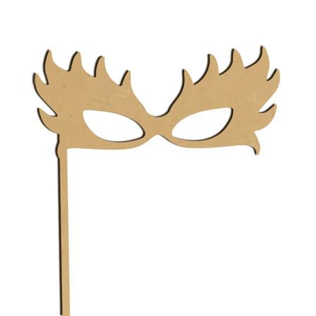 Sujet en bois médium - Photobooth Lunettes plumes - 29,9*18,9 cm