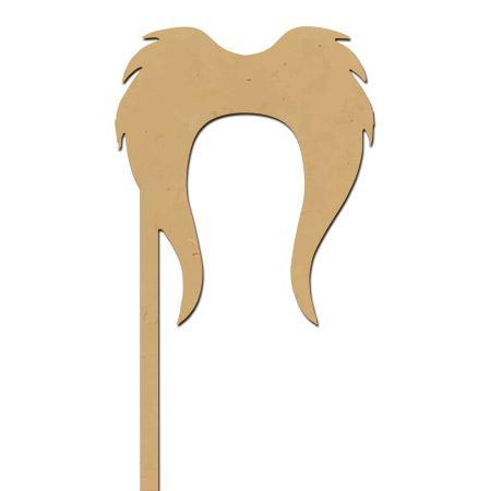 Sujet en bois médium - Photobooth Moustache sheriff - 21 x 9,5 cm