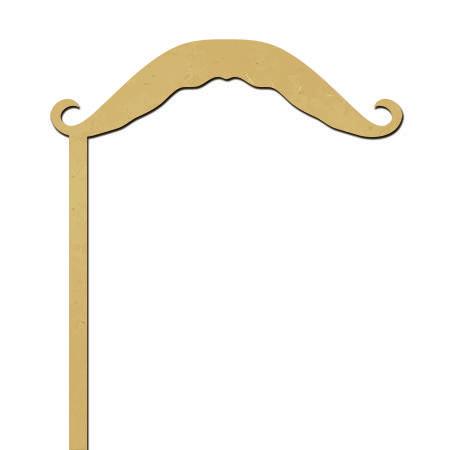Sujet en bois médium - Photobooth Moustache aristocrate - 21,2 x 14,2 cm