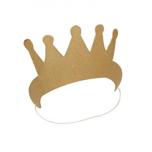 Couronne de princesse en carton - 10 x 7,5 x 17 cm