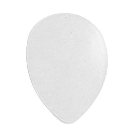 Support à décorer en plastique - Disque intercalaire pour œuf H. 16 cm - Transparent