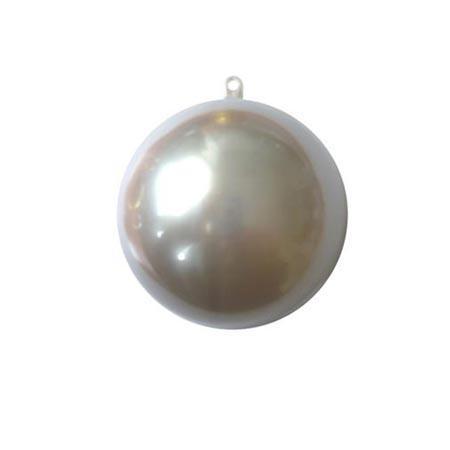 Support à décorer en plastique - Boule divisible Ø 5 cm - Argent