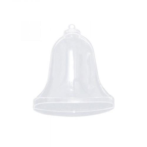 Cloche divisible transparente en plastique - 9,5 x 8,5 cm
