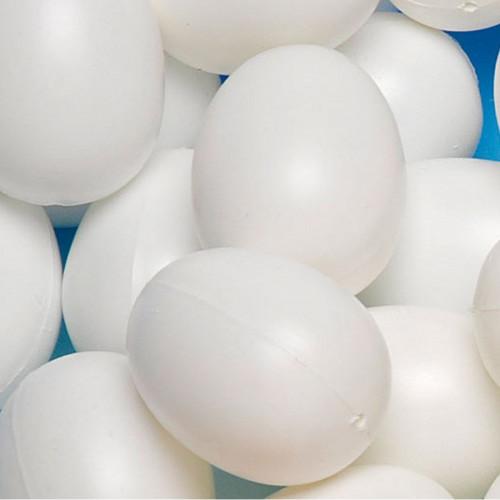 Œufs blancs en plastique - 6 x 4,5 cm - 6 pcs