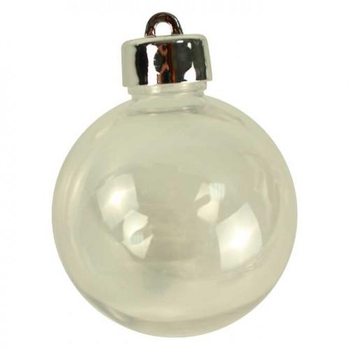 Boules en plastique avec bouchon à visser - 6 cm - 4 pcs