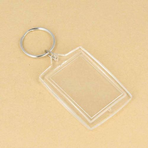 Porte-clés Photo rectangle - 3 x 4,5 cm - 4 pcs