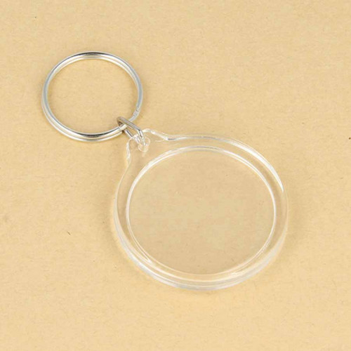 Porte-clés Photo rond - 3,5 cm - 4 pcs