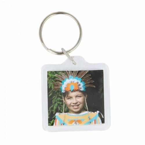 Porte-clés Photo carré - 3,3 cm - 4 pcs