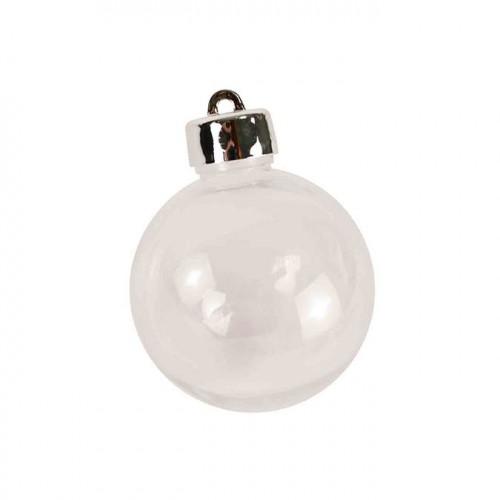 Boule en plastique avec bouchon - 8 cm - 3 pcs