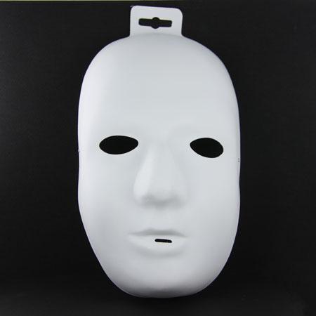 Support à décorer en plastique - Masque adulte - Homme - 26 x 13.5 x 9 cm