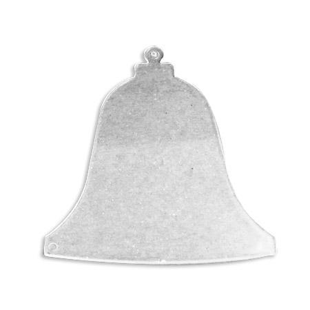 Support à décorer en plastique - Disque intercalaire cloche H. 9,5 cm - Transparent