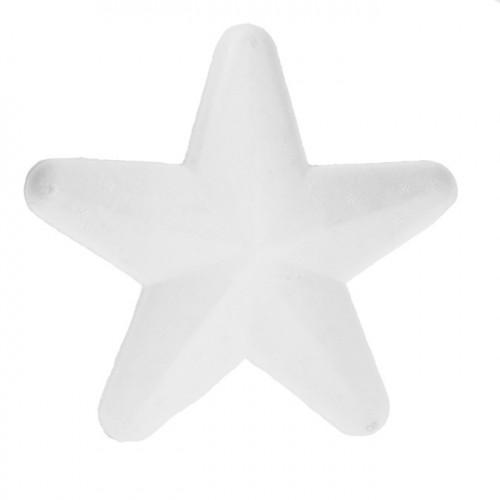 Etoile en polystyrène - forme arrondie - 15 cm