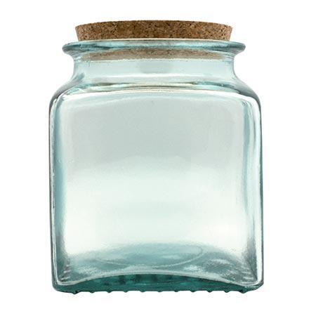 Pot en verre - Carré - 1,1 L - 14 cm