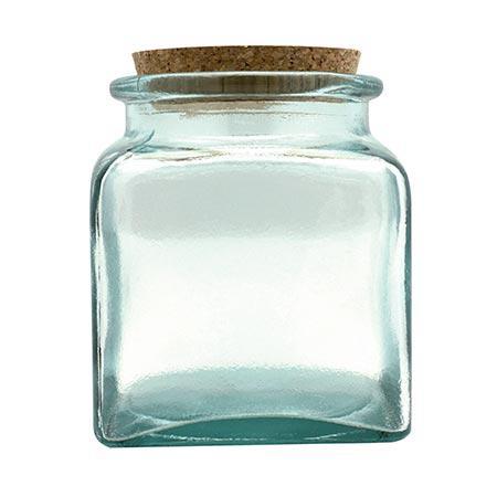 Pot en verre - Carré - 500 ml - 11 cm