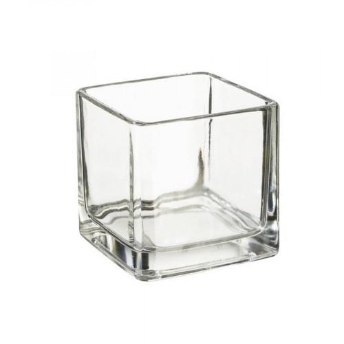 Récipient en verre - Carré - 5 x 5 x 5 cm