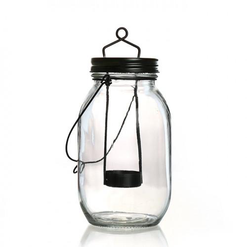 Bocal lanterne en verre - 9 x 21,5 cm