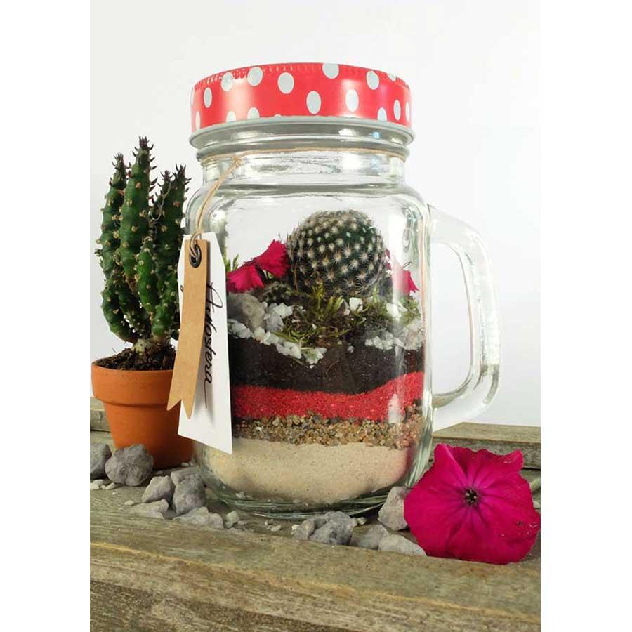 Pot classique en verre avec poignée - 370 ml