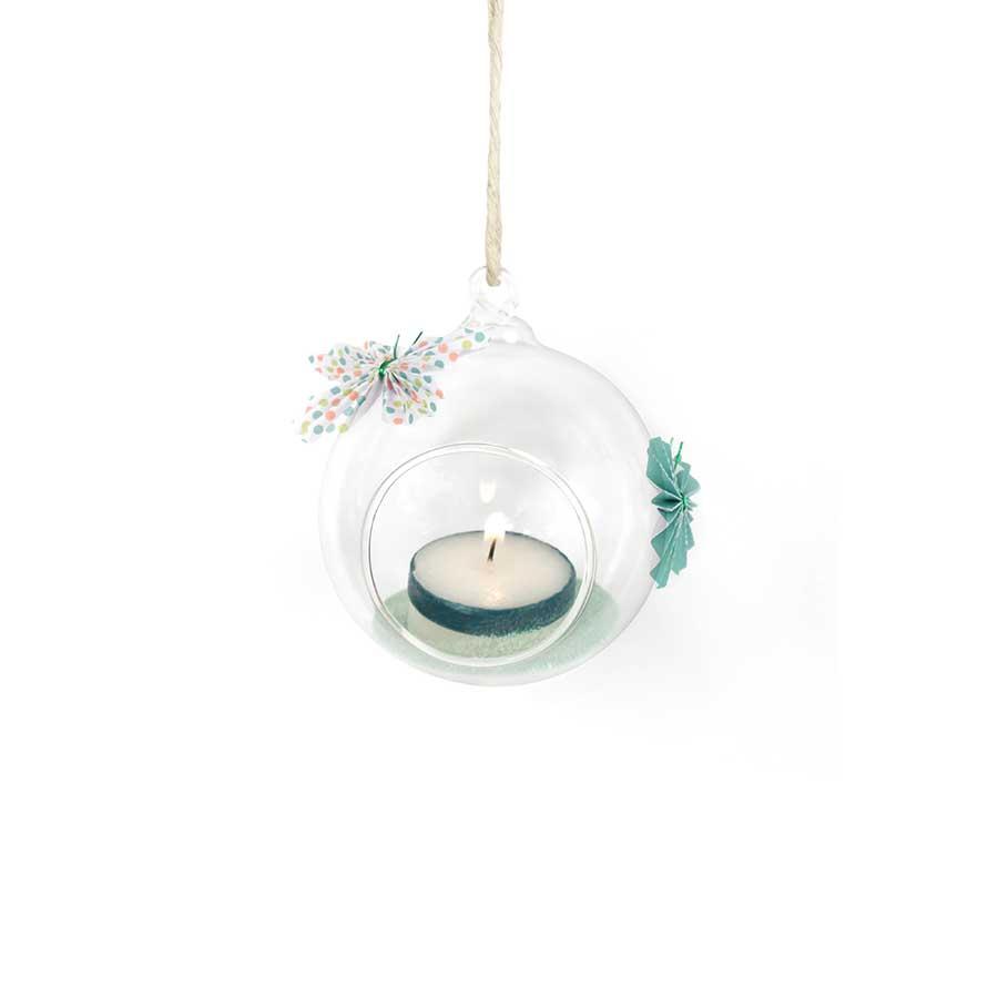 Boule ouverte en verre - 8 cm