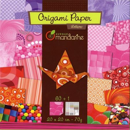 Pochette Origami Paper - 20 x 20 cm - Lollipop