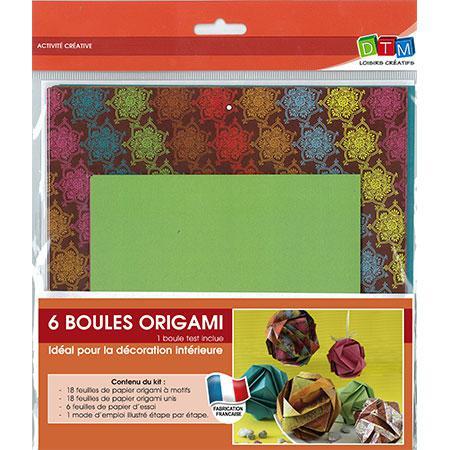 Set de 6 boules origami - Oriental