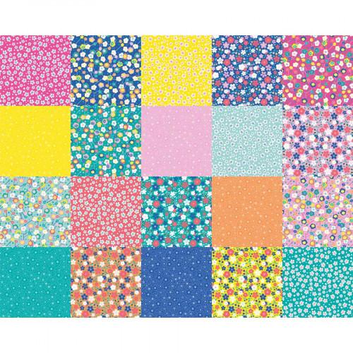 Papiers Origami - Fleurs japonaises - 15 x 15 cm - 100 feuilles
