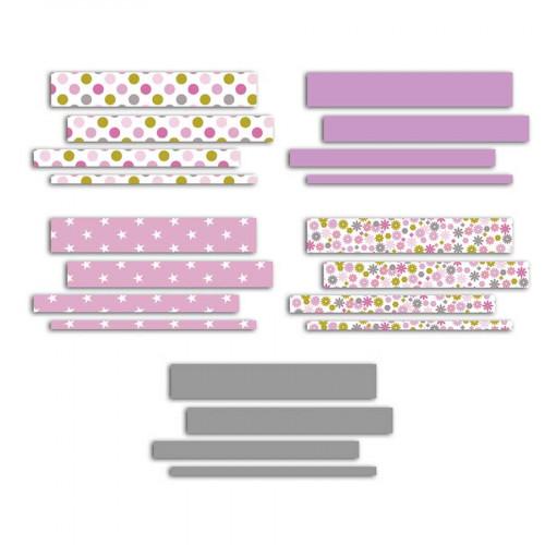 Quilling - Bandes de papier - Grenadine - 4 x 25 - 50 cm