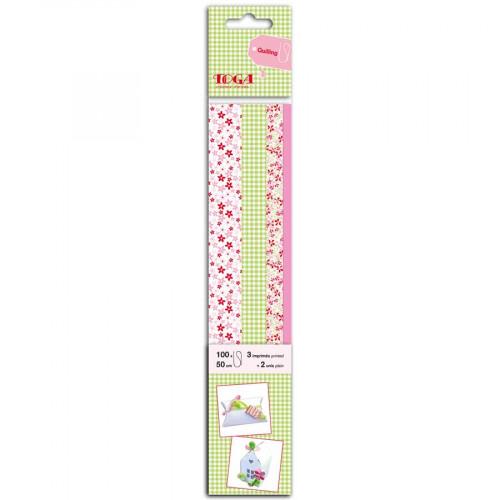 Quilling - Bandes de papier - Mademoiselle - 4 x 25 - 50 cm