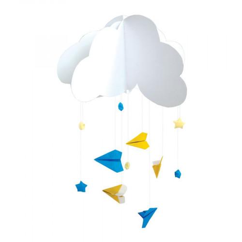 Kit Origami - Déco chambre bébé - Bleu