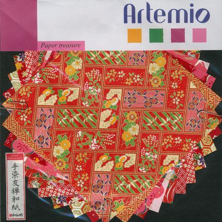 Papier Origami - Japon - rouge - 15 x 15 cm
