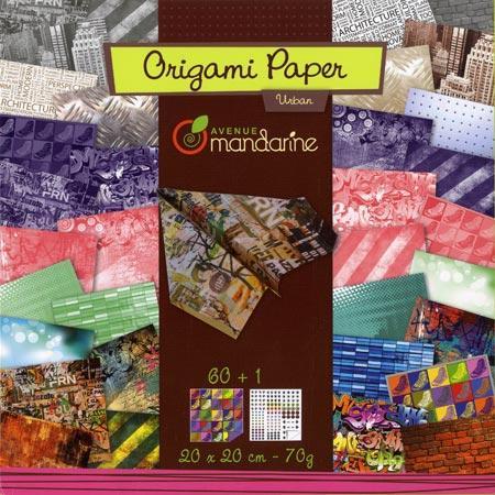 Pochette Origami Paper - 20 x 20 cm - Urban