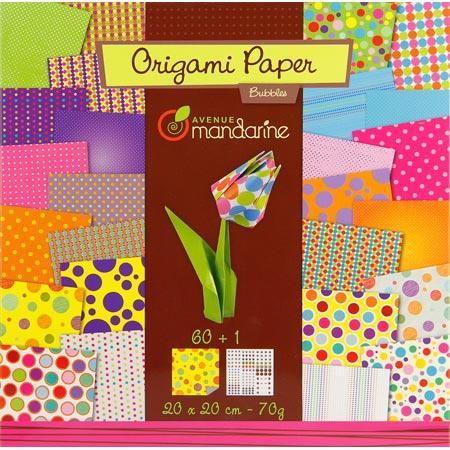 Pochette Origami - 20 x 20 cm - Bubbles