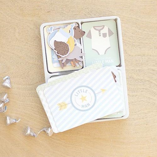 Kit Bébé garçon - 119 cartes / découpes pour Project Life