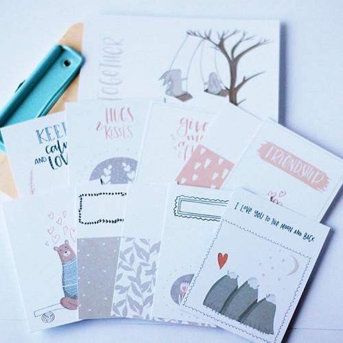 Cartes pour le journaling Love Me Do - 11 pcs