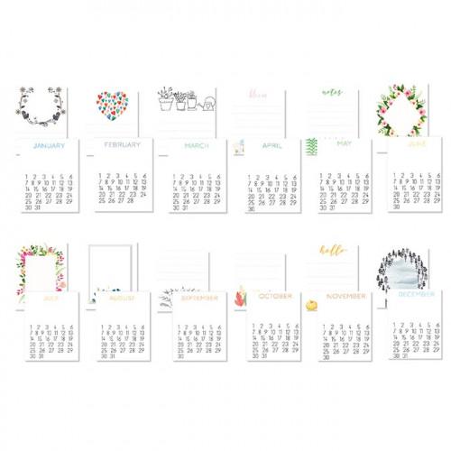 Cartes pour le Journaling - 12 mois