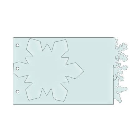 Sujet en plexiglas - Mini album flocon 4 pièces - 17,2*10 cm