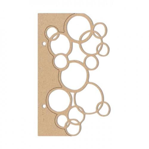 Album bulles en bois médium - 16,5 x 16,5 cm