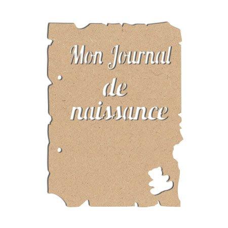 Objet en bois médium - Mini album Mon journal de naissance - 20 x 14,5 cm