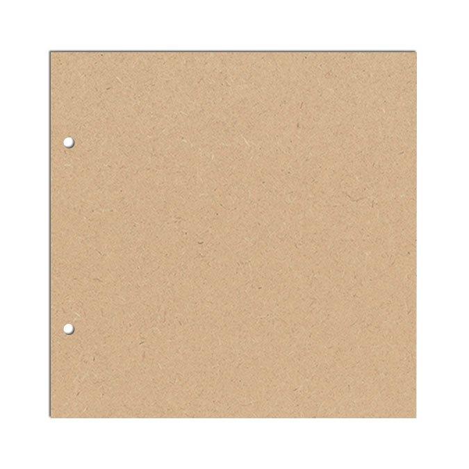 Objet en bois médium - Album Amour - 16,5 x 16,5 cm