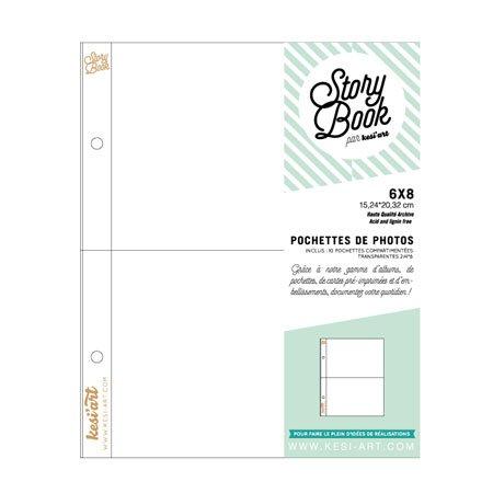 Pochettes photos - 10 pochettes à 2 compartiments - 6 x 8