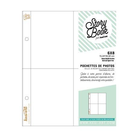 Pochettes photos - 10 pochettes à 4 compartiments - 6 x 8
