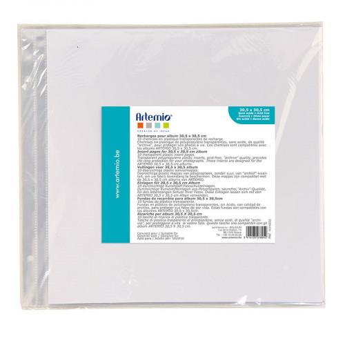 Pochettes pour album - 2 perforations - 30,5 x 30,5 cm - 10 pcs