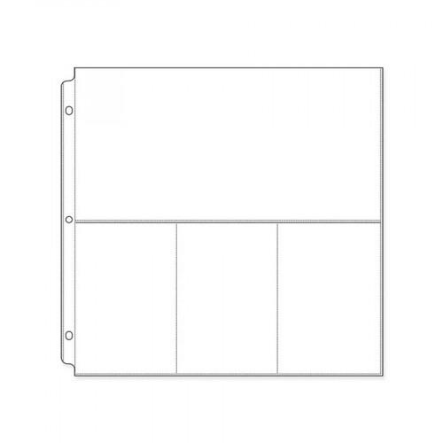 Photo Sleeves - 12 x 12 - 10 pochettes compartimentées (6 x 12 et 4 x 6)