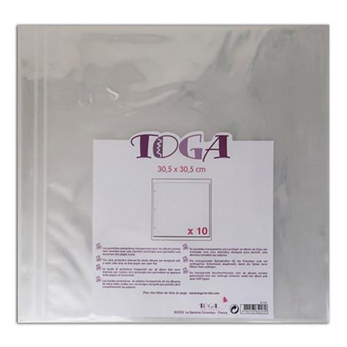 Pochettes transparentes 30,5 x 30,5 cm - 10 pcs