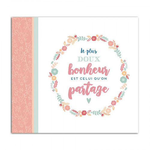 Album à vis - Bonheur - 20 x 20 cm
