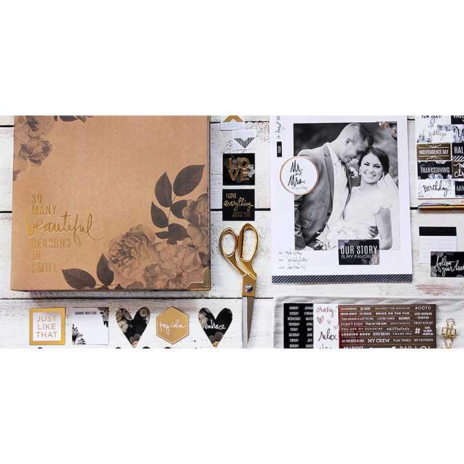 Storyline Album à 3 anneaux 22 x 28 cm Floral
