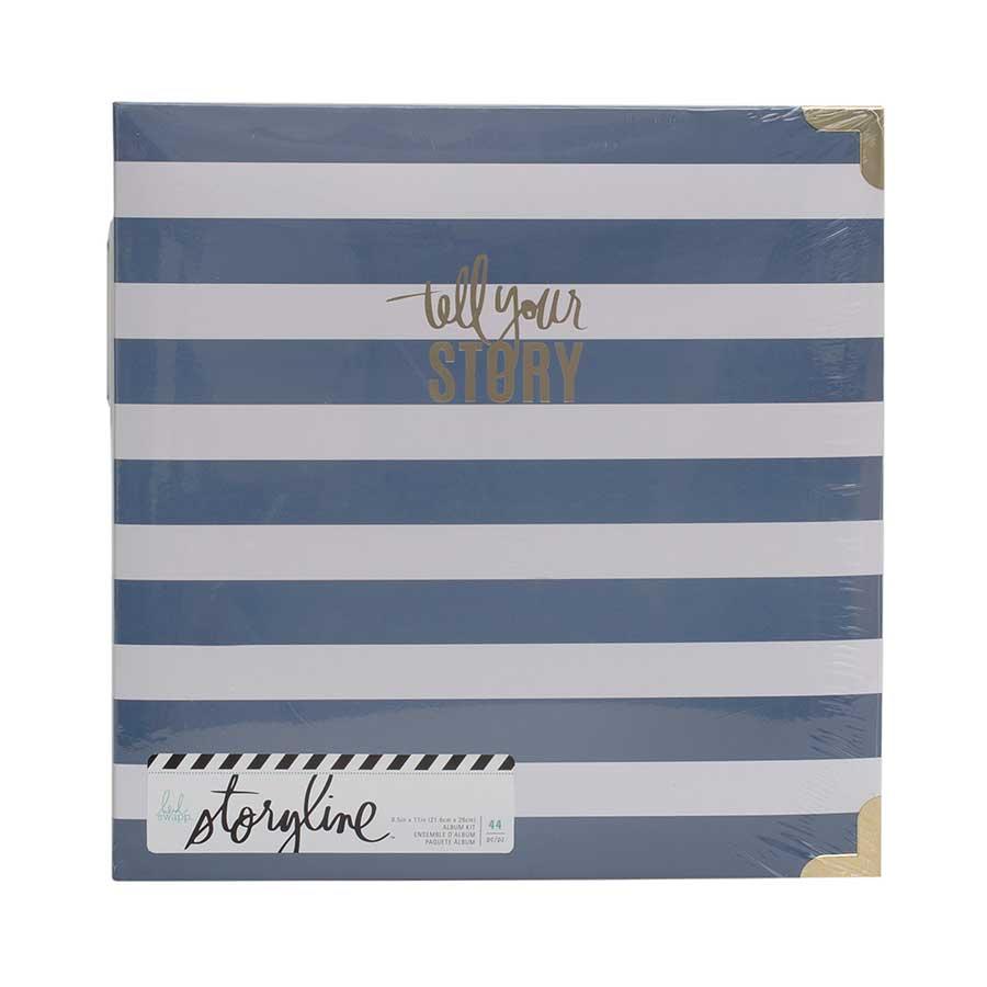 Storyline Album à 3 anneaux 22 x 28 cm Rayures bleues