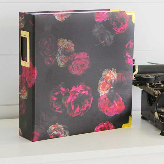 Storyline Album à 3 anneaux 22 x 28 cm Fleurs